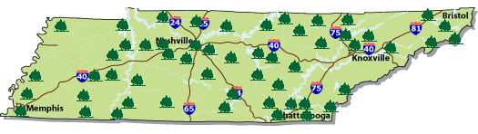 Image Map of Tennessee